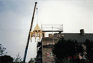 Construction of the top of the tower